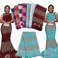 2016 nueva llegada de orange color de encaje del cordón africano telas de encaje de alta calidad tela de encaje guipur para el vestido de fiesta 1f16101836