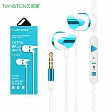 TIANSTON Plugue do Fone de ouvido de Qualidade de Som Estéreo Baixo Pesado fone de Ouvido Fio Do Telefone Móvel Para A Apple Android Universal Para Xiaomi Samsung