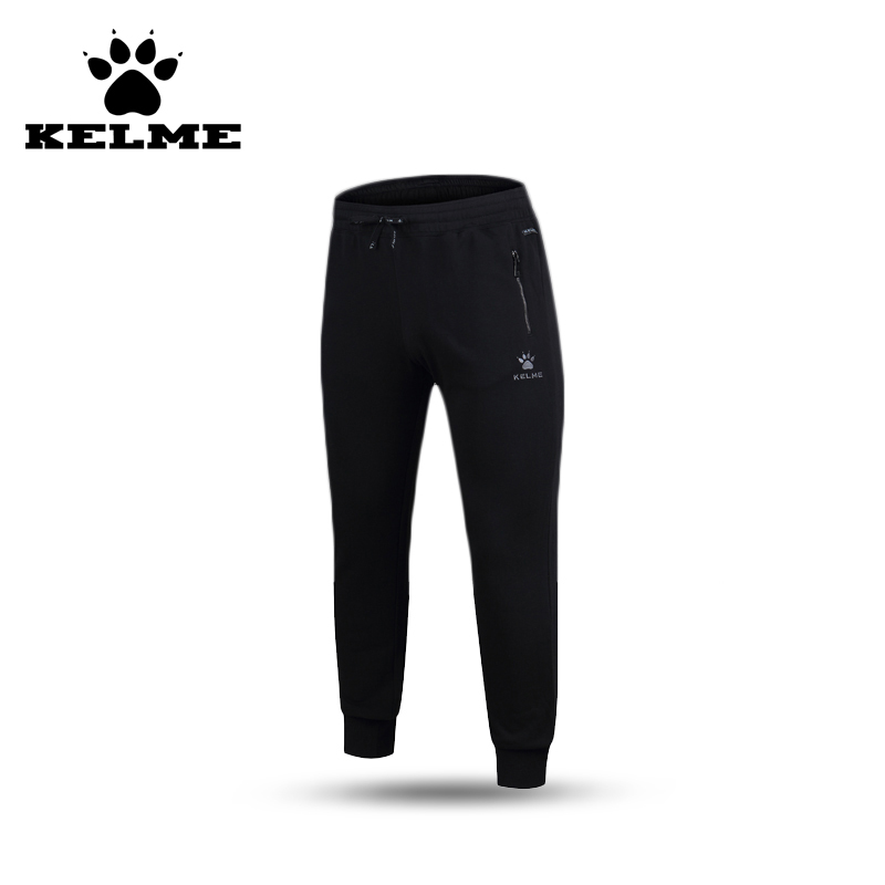 ФОТО KELME 2016 Slim Cotton Polyester Jogging Men Training Fitness Sweatpants Elastic Waist Harem Trousers 69