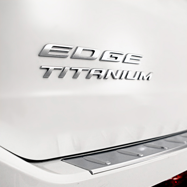 Car Styling D Metal Titanium Logo Emblems Tail Sticker For Ford Focus   Edge