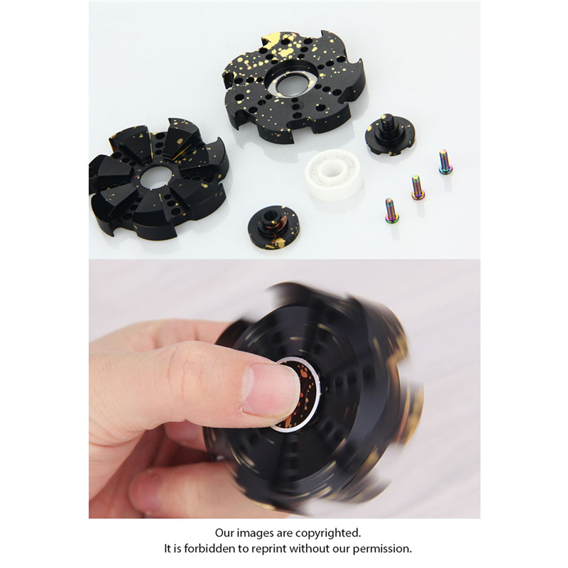New Arrival V2 EDC Finger Spinner Rose Turbine Fidget Spin Focus Toy Stress Relief for Adult/Kids Children Hand Spinners Toys new style edc round three corner camouflage hand spinner for autism and adhd anxiety stress relief focus toys