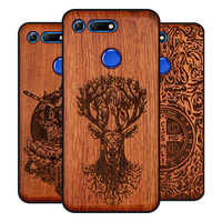BOOGIC Original Wood Phone Case For Huawei Honor View 20 V20 V10 Wood +TPU Cover For Honor 8x Play 10 Ultra-Thin Wooden Coque