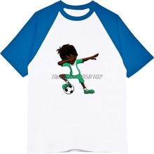 bab50cc34ae Summer Men Raglan Sleeve Cotton T-shirt Cool Dabbing Soccers Boy Jersey  Shirt Nigeria Flag