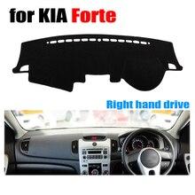 Приборной панели автомобиля Обложка Коврик для Kia Forte все годы правым dashmat Pad тире охватывает приборной панели авто аксессуары