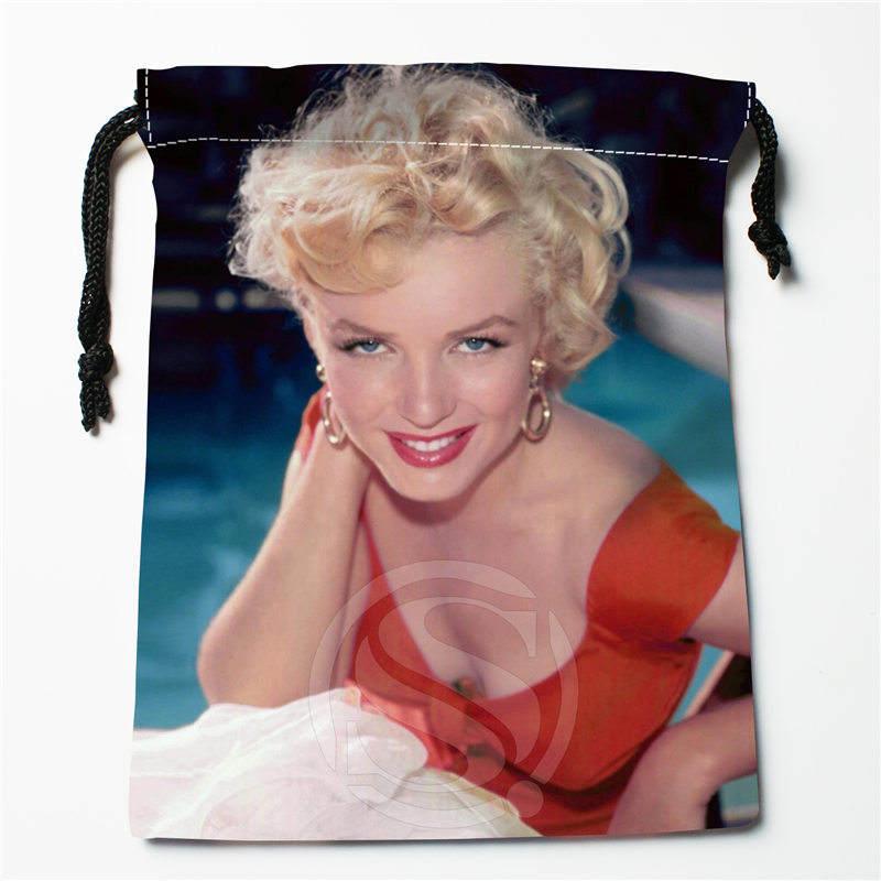 Fl-Q158 New Marilyn Monroe &2 Custom Printed  Receive Bag  Bag Compression Type Drawstring Bags Size 18X22cm 711-#Fl158
