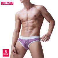 Mens Briefs Pure Cotton Large Size Star Print Breathable Briefs Manufacturers Wholesale Mens Underwear Man