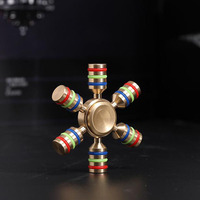 COOLESTSTARTR ainbow Fidget Spinner Finger Spinner Hand Spinner Brass Metal For Autism Adult Anti Relieve Stress Toy Spiner