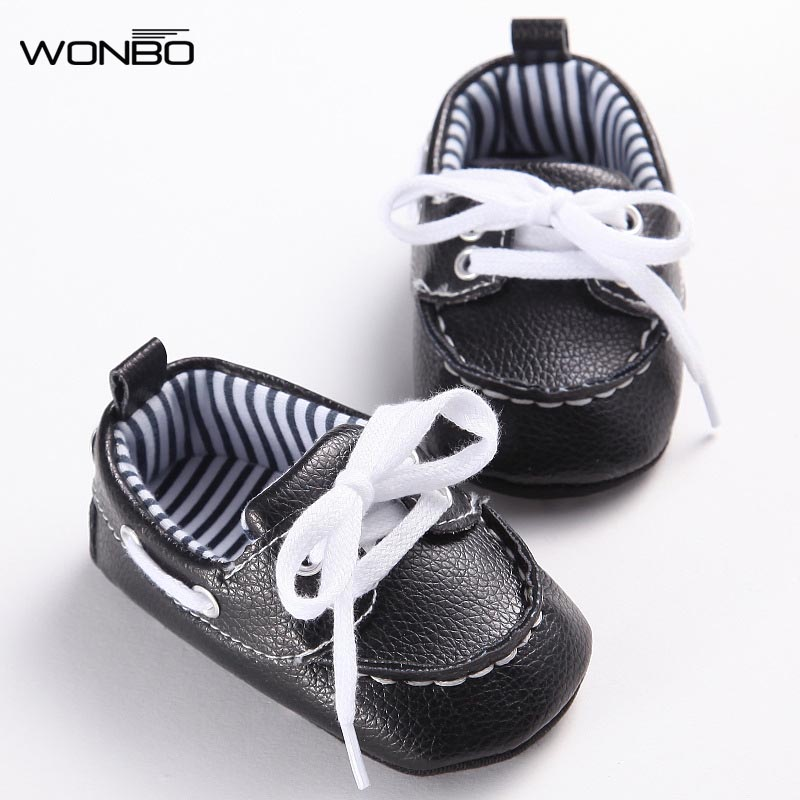 2017 Fashion Classic Leisure Blue Infant Toddler Baby Boy Kid Prewalker PU Leather Shoes Crib Babe Soft Soled Loafer 0-1 Years