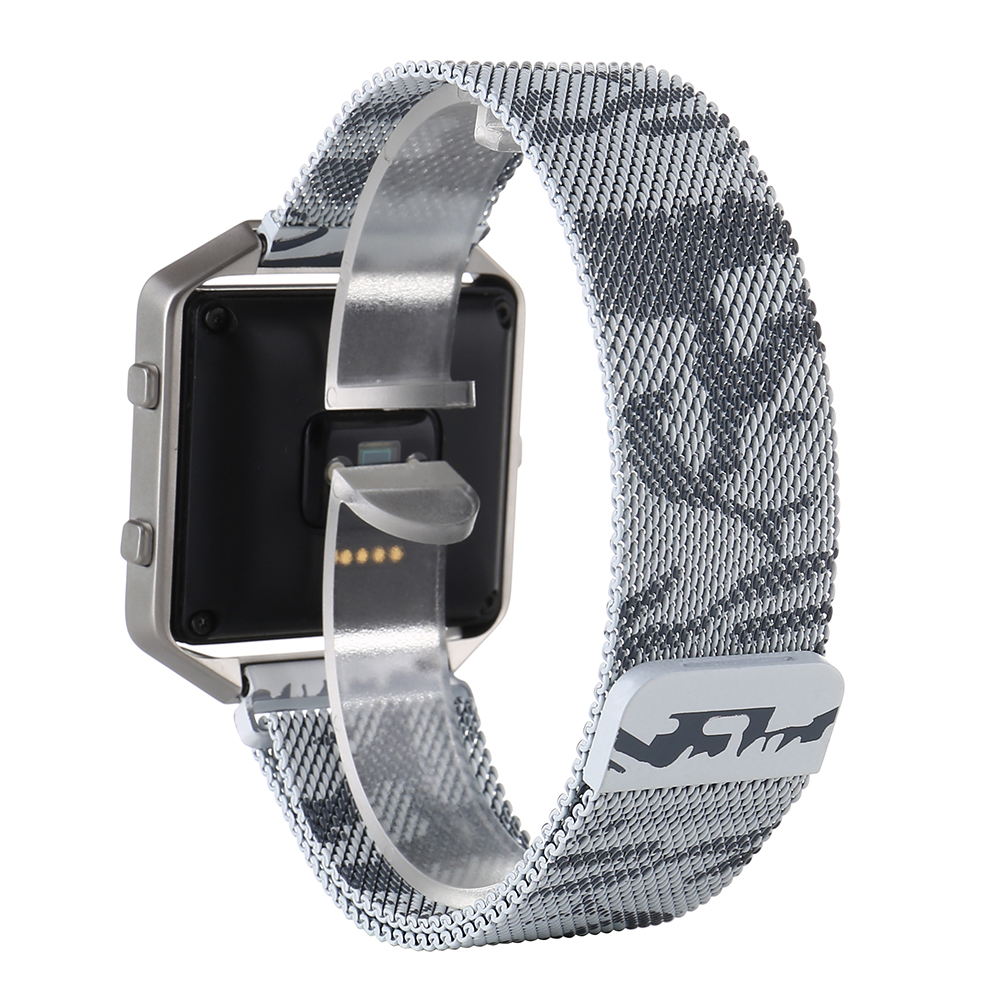 Steel Sport Loop Army Fashion Stainless Steel Watch Bands For Fitbit Blaze Wrist Band Bracelet Easy Fit Adjustable Smart Straps Steel Sport Loop Army Fashion Stainless Steel Watch Bands For Fitbit Blaze Wrist Band Bracelet Easy Fit Adjustable Smart Straps