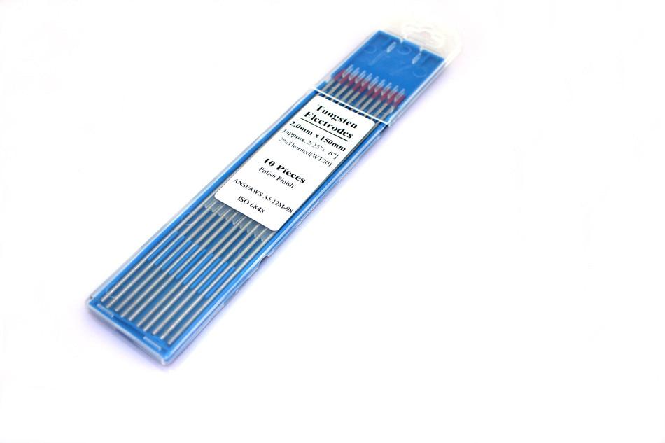 10 шт. красный цвет код 150 мм торий Вольфрам электродная головка Вольфрамовая игла стержня/проволока для TIG WSME супер сварочный аппарат