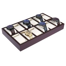 12 Grids Wooden Watch Display Case