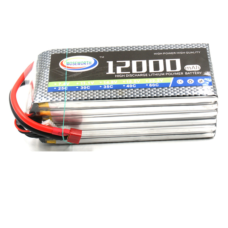 RC Lipo Battery 6S 22.2V 12000mAh 30C For RC Quadcopter Drone Helicopter Airplane Boat Model Remote Control Toys 6s Lipo Battery lipo battery 7 4v 2700mah 10c 5pcs batteies with cable for charger hubsan h501s h501c x4 rc quadcopter airplane drone spare