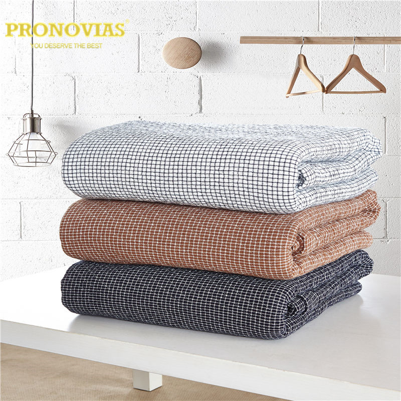 100% de punto de algodón a cuadros patrón colcha, manta ...