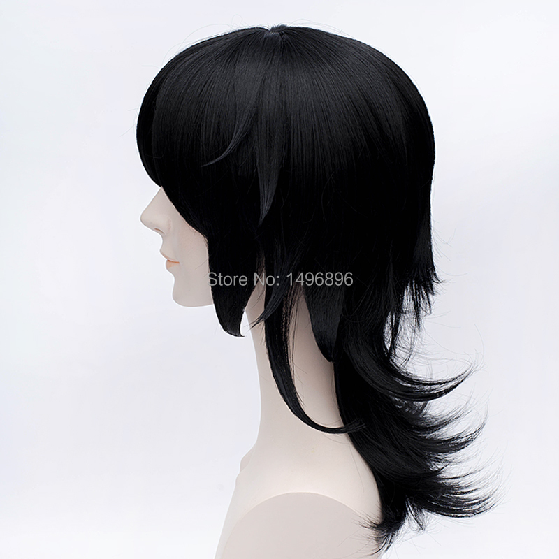 WataMote Tomoko Kuroki  Black Anime Cosplay Wig Costume Free Wig CAP