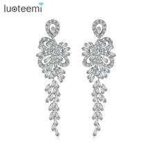 Teemi New Arrival Top Quality Luxurious Romantic CZ Long Hanging Chandelier Earrings For  Bridal Mariage Wedding Party Jewelry