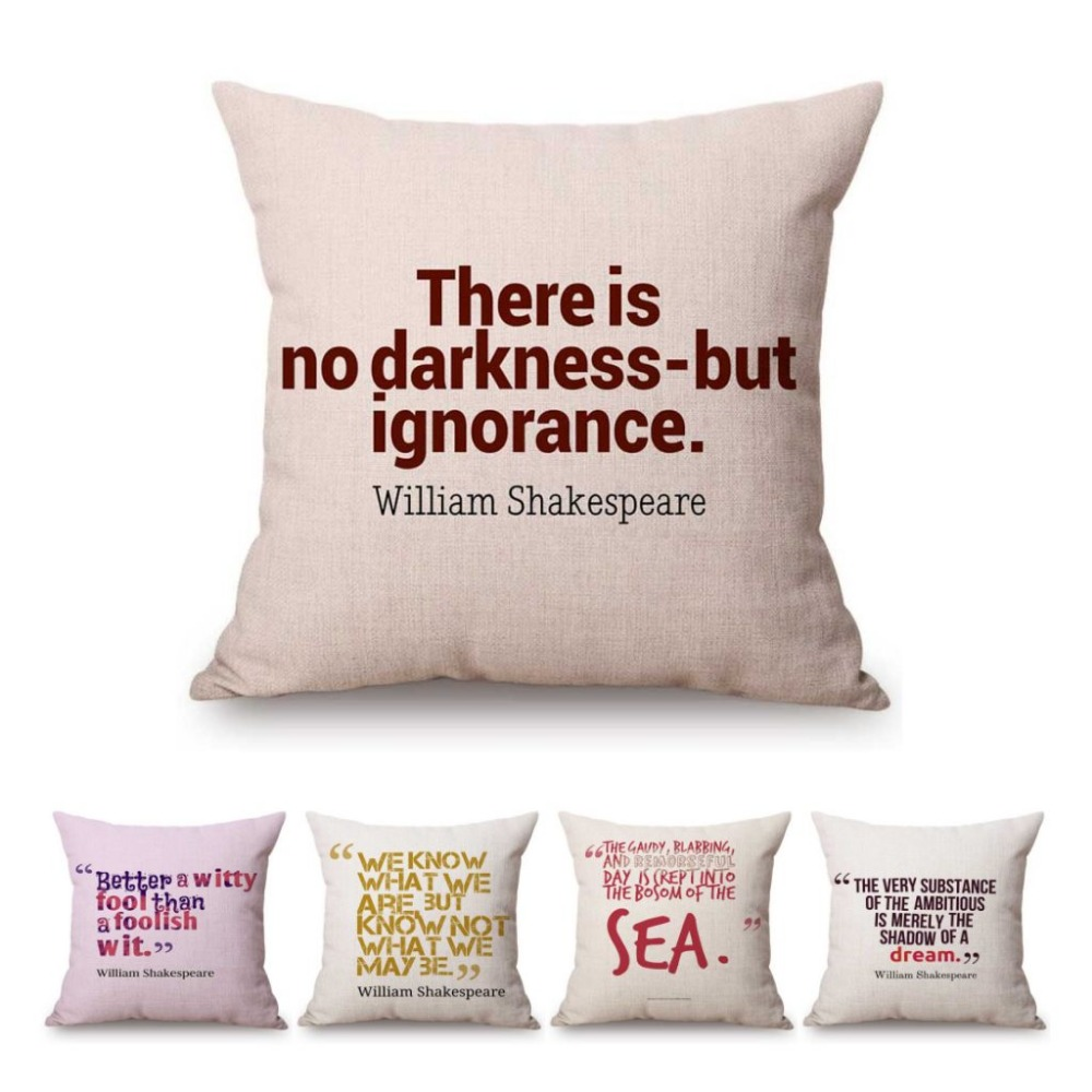 William Shakespeare Throw Pillow Cover