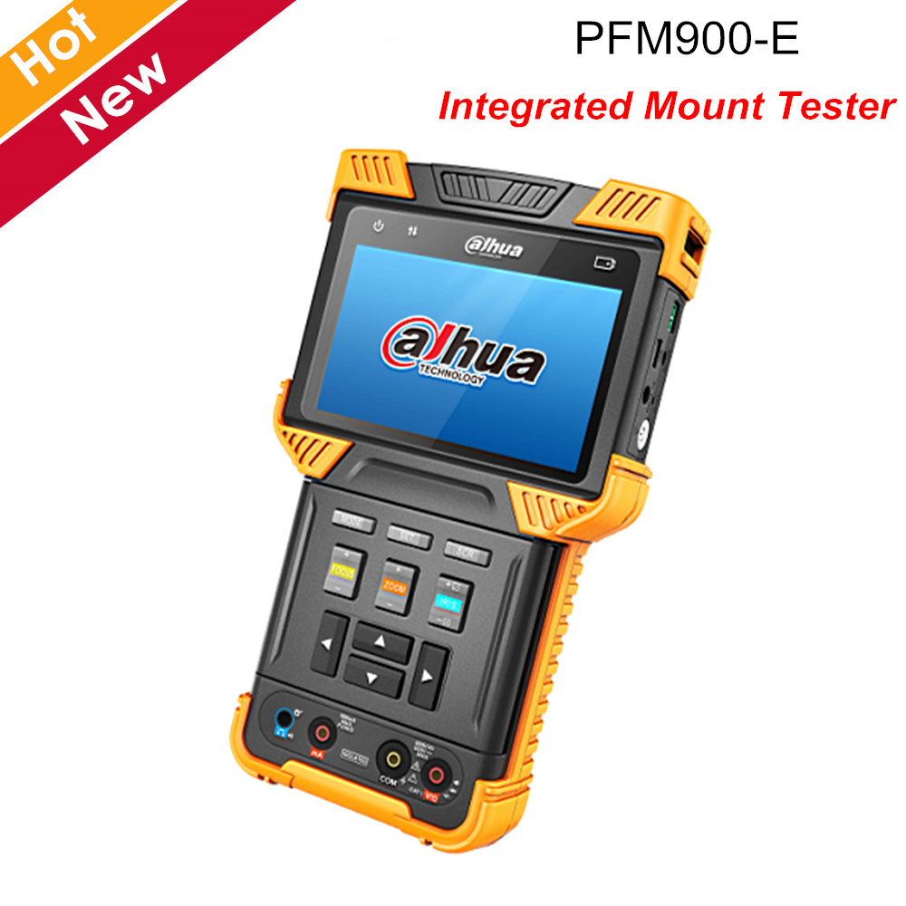 Dahua PFM900-E Integrated Mount Tester Support H.264 H.265 HD Decoding Protocol And PoE+ Dual LED Flashlight CCTV Accessories