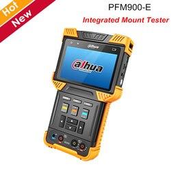 Dahua PFM900-E Integrierte Montieren Tester Unterstützung H.264 H.265 HD dekodierung protokoll und PoE + Dual LED taschenlampe CCTV Zubehör