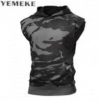 YEMEKE Fashion Casual Classic Solid Color Cotton Hoodies Mens Spring New Thin Men Sleeveless Sweatshirts Clothing