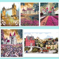 Picture On Wall Acrylic Paint By Numbers Diy Painting By Numbers Christmas Gift Coloring By Numbers