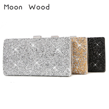 50% OFF Woman Evening bag Diamond Rhinestone Clutches Crystal Day Clutch Wallet/Purse Wedding Party Banquet Black/Gold/Silver e2 цена в Москве и Питере