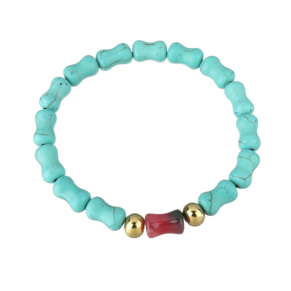 YYW Fashion Bracelets Cheap Jewelry Dyed Stainless Steel Gold-color for woman Approx 8 Inch Strand