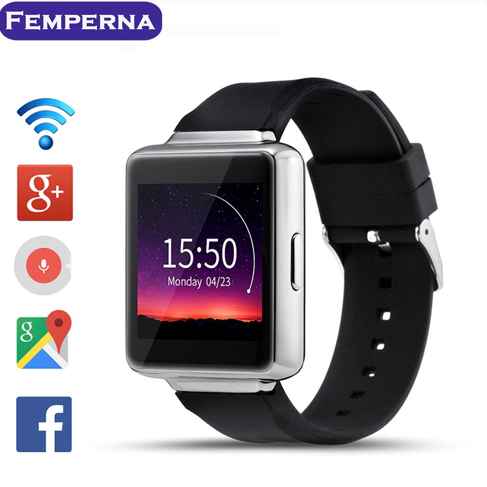 Prix pour Femperna K1 MTK6580 Android 5.1 OS Smart Watch Téléphone 320*320 Écran quad core Smartwatch Soutien SIM Pedomete Coeur Taux