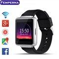 Mtk6580 femperna k1 android 5.1 os smart watch phone 320*320 tela quad core smartwatch sim suporte pedomete freqüência cardíaca