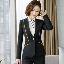 Office Uniform Designs Women Long Sleeve Blazer and Mini Skirt Set 2 Pieces Ol Clothing Women Skirt Suits Plus Size 4XL