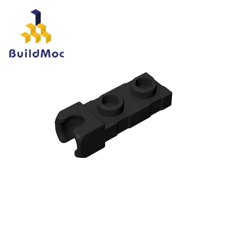 Buildmoc compatível monta partículas 14418 1x2 para blocos de construção peças diy logotipo educacional tecnologia peças brinquedos