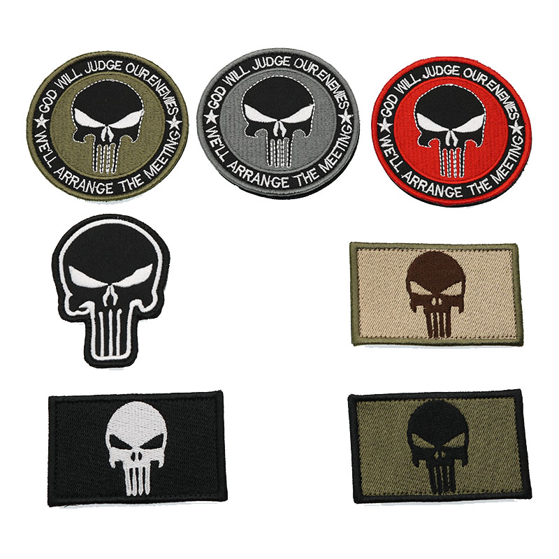 Home & Garden New Punisher Army Tactical Backpack Embroidery Armband Personalized Military Badge Apparel Hat Fabric Selling Well All Over The World Special Price Apparel Sewing & Fabric