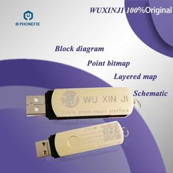 PHONEFIX 100% original WUXINJI Dongle plataforma wu xin ji para iPhone iPad Samsung bits de placa base diagrama esquemático mapa