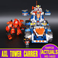 New LEPIN 14022 704Pcs Nexoe Knights Axl's Tower Carrier Model Building Kits  Blocks Bricks Toys Compatible