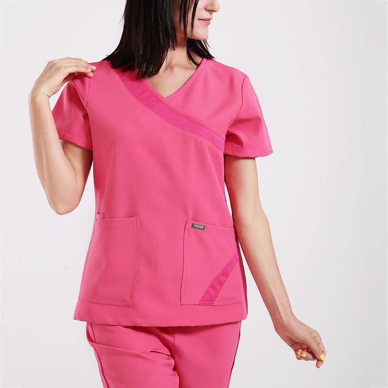 Women Flexible Nurse Uniform Outfits Scrub Suit Medical Uniform Nurse Doctor Workwear Hospital Comfortable Medical Outfit