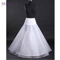 Giá bán buôn 2018 Bất Photos Dài Vải Tuyn Cưới Petticoat Trắng A Line Giá Rẻ Bridal Khung Làm Cái Vái Phùng Phụ Kiện Đám Cưới