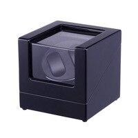 Dobadoura do relógio  LT Display Case Caixa De Armazenamento De Madeira Rotação Automática 2 + 0 O novo estilo (Todo preto) 2019 Novo estilo