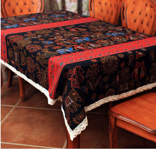 New Fashion Tablecloth Lace Linen Tablecloth End Table Cloth Kitchen Dining Table  Cloth Party Tablecloth Free