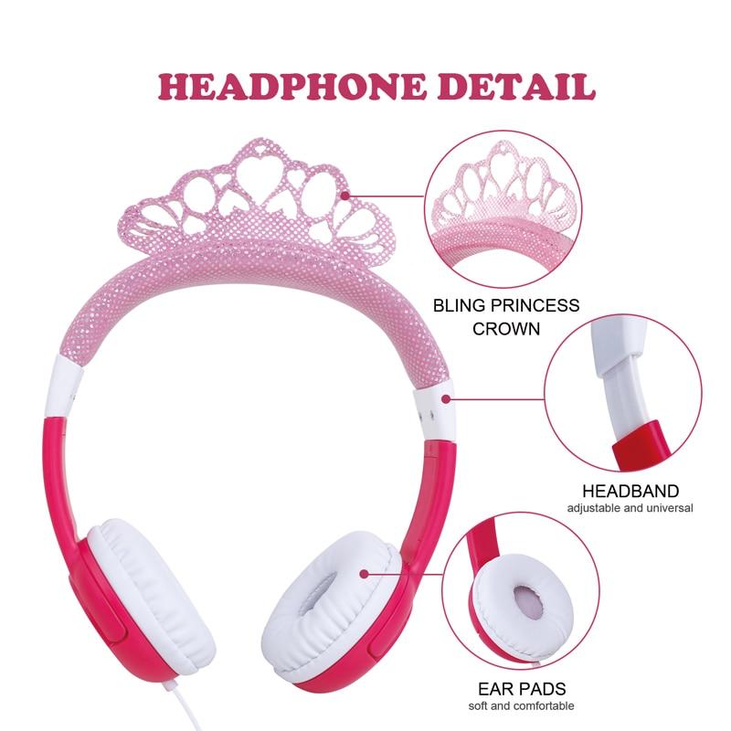 Oneodio Cute Cartoon Congelato Headset Della Fascia Bling Princess ... 06de859e23af