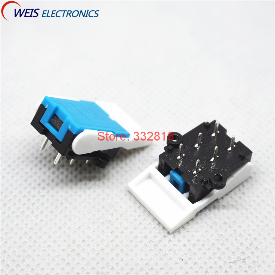 100PCS telephone switch 6pin Reset micro switch Building intercom doorbell pressure switches Free shipping D.