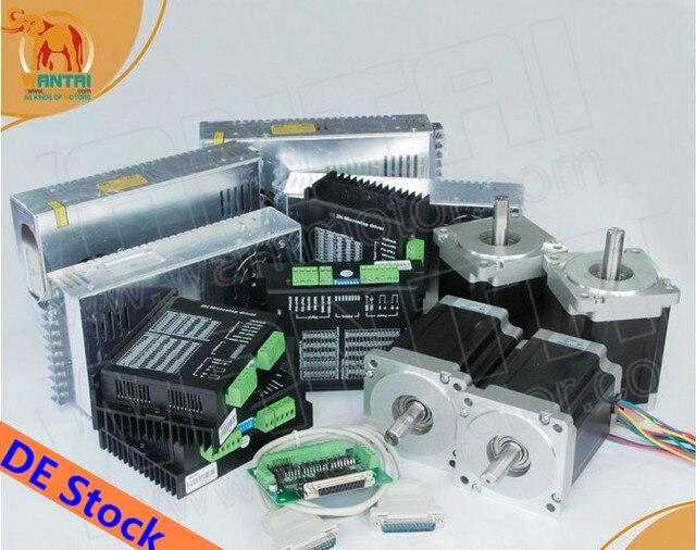 ¡Envío desde DE! Motor paso a paso Nema34 de 4 ejes, 85BYGH450D 008 1090ozin, Kit CNC y controlador