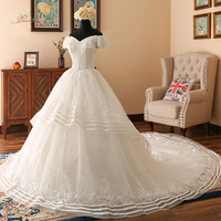 Dream Angel Sexy Short Sleeve Boat Neck Vintage Wedding Dresses 2018 Appliques Pearls Tulle Bride Gown