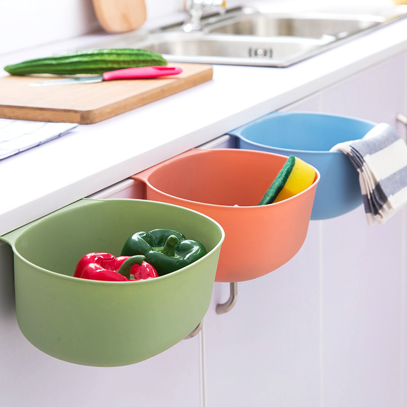 Kitchen Storage Box Creative Hanging Trash Cans Food Cosmetics Storage Box Living Room Garbage Basket Plastic Storage Basket