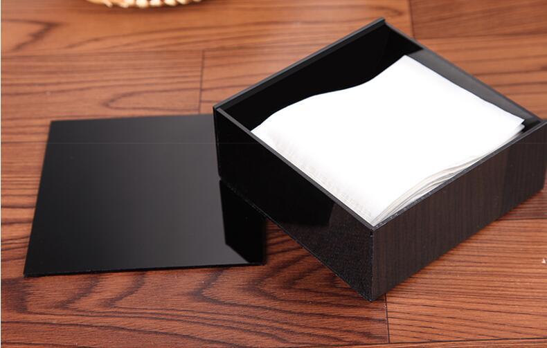 1 Набор Рождественский подарок высшего класса акриловая коробка для салфеток черный квадратный креативный водонепроницаемый простой европейский держатель для салфеток автомобильная коробка для салфеток