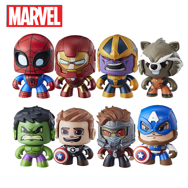 Vingadores Marvel Mudança Rosto Poderoso 15 centímetros Ações Thor Capitão América Spiderman PVC Anime Figura Brinquedos para As Crianças Bonecas Presentes