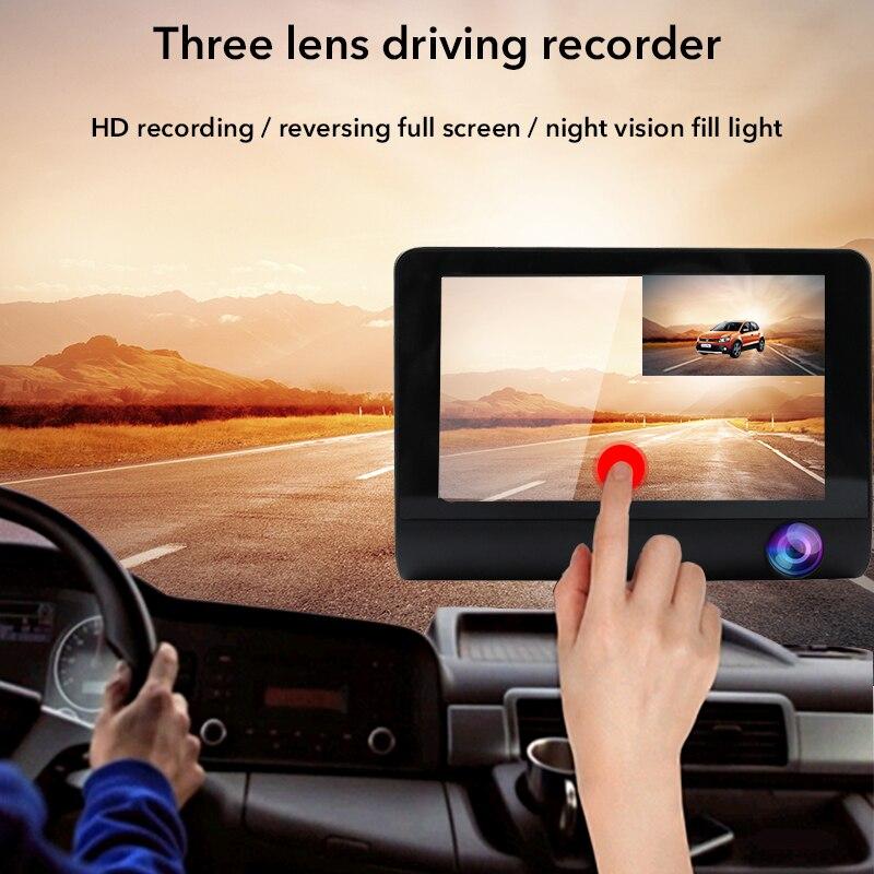TOSPRA Rearview-Mirror Car-Dvr Dash-Cam Night-Vision 170-Degree Registrator G-Sensor