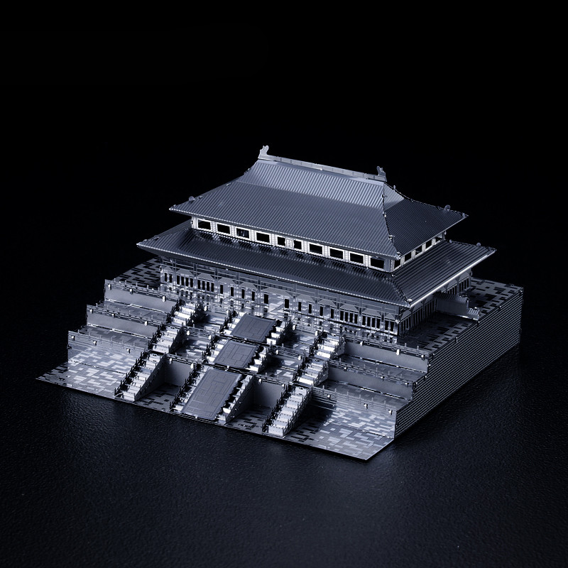 Microworld 3D Metal Puzzle Forbidden City DIY Model Chinese Historical Architecture Jigsaw Model Kit Adult Hobby Collection Toys image