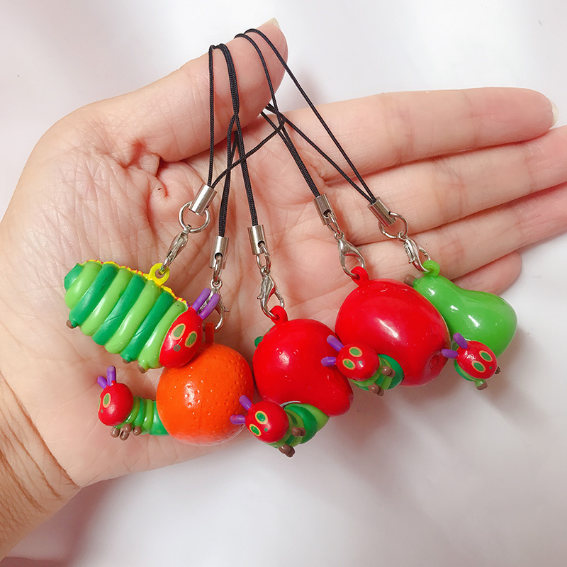 Hungry Caterpillar PVC Key Charms Collection Action Figures Small Gift