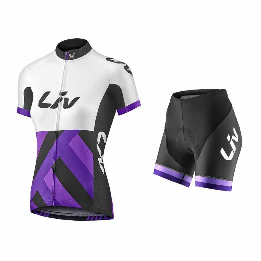 2019 Zomer Vrouwen Liv Team Racing Wielertrui Quick Dry Ropa Ciclismo Fiets Kleding Gel Ademend Pad Fiets Korte Sets
