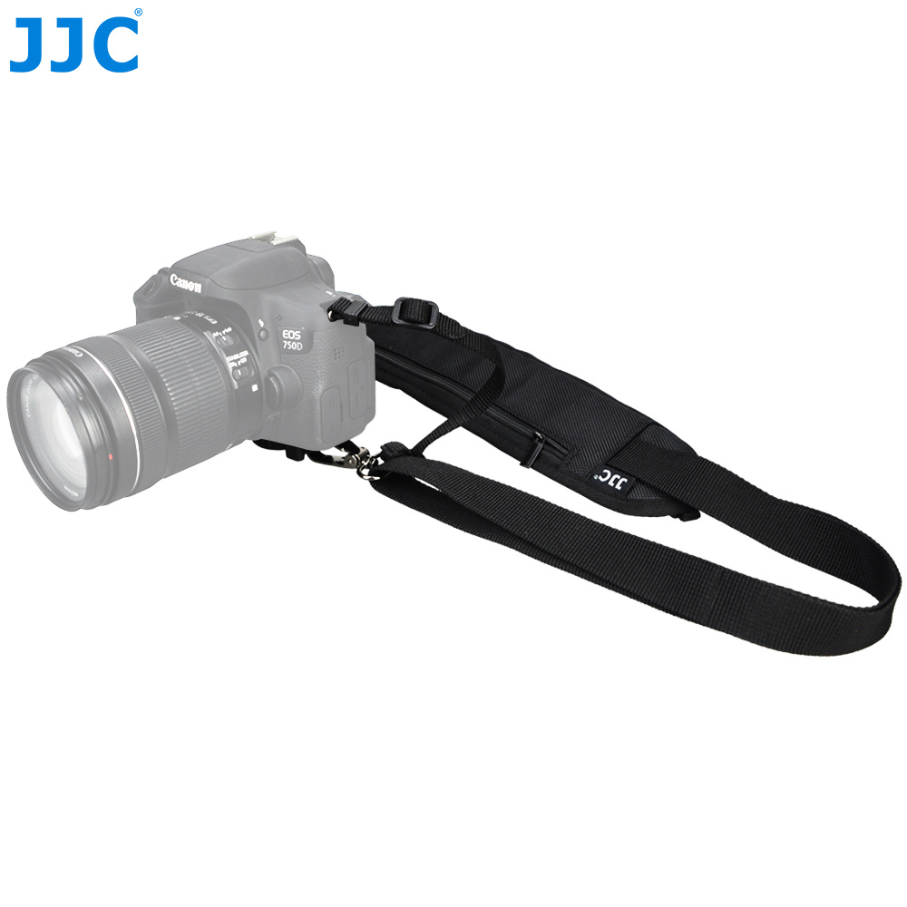 JJC Camera Across Neck Strap Polyester DSLR Shoulder for Canon/Nikon/Olympus/Pentax With 1/4-20 Metal Screw Tripod Socket Belt