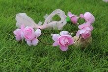 multi color Flower wreath Wedding Bridesmaids Crown Headband Alloy Bridal Headpiece hair accessories Flower Girl Headband crown